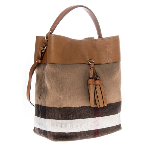 5f84f7678b52 Burberry Handbags - Burberry Medium Ashby Canvas Check   Leather Bag